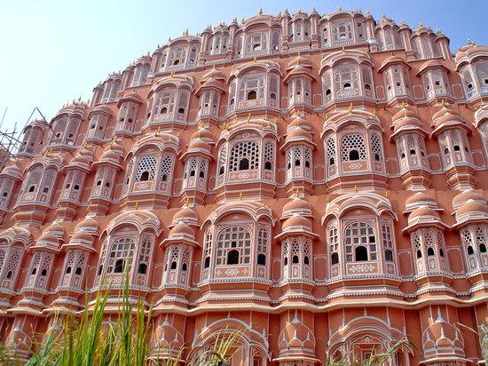 Jaipur, Inde : la fachada del palacio de los vientos