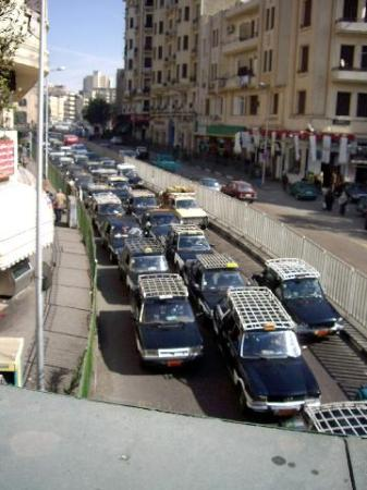 Taxis in Al-Azhar Street