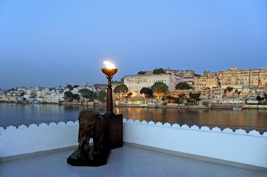 Taj Lake Palace Udaipur: During a lunch on a roof