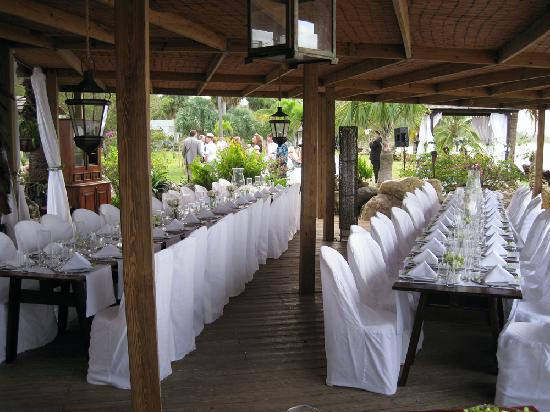Villa Montana Beach Resort Eclipse Restaurant Set Up For Wedding Reception