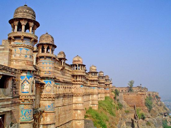 Madhya Pradesh, Indien: la fortaleza de Gwalior