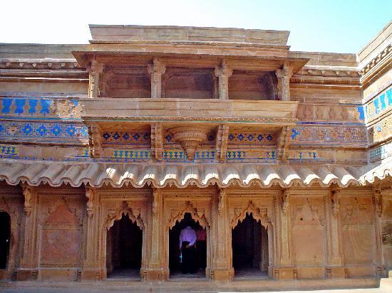 Madhya Pradesh, Indien: patio interior