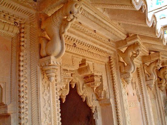 Madhya Pradesh, Indien: detalles interiores