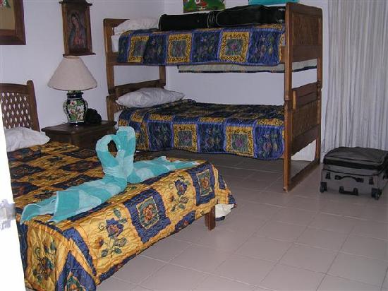 Chac Hal Al Condominiums: E 303 downstairs bedroom