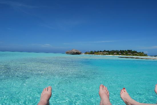 Anantara Veli Maldives Resort: Main island spa from lounger