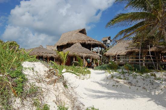 Cabanas La Luna : view from the beachbeds