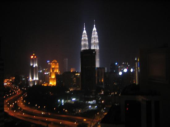 Sheraton Imperial Kuala Lumpur Hotel: From the room but a little blurry.