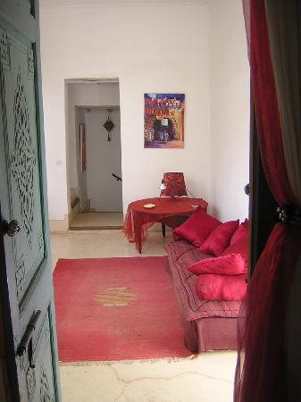 Dar Malak: Occident suite- sitting area on balcony
