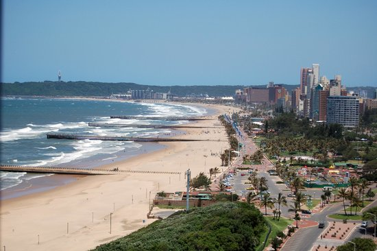 Durban, Afrique du Sud : Blue Waters Hotel view from bedroom