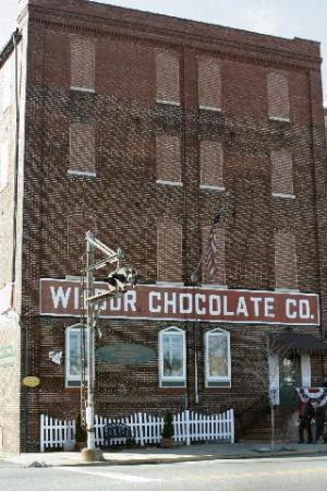 Outside the Wilbur Chocolate Company on North Broad Street in Lititz PA