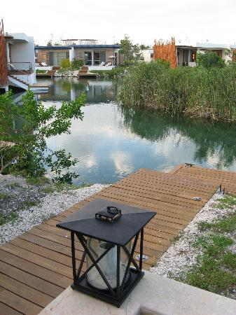 Rosewood Mayakoba: dock down to lagoon from back porch