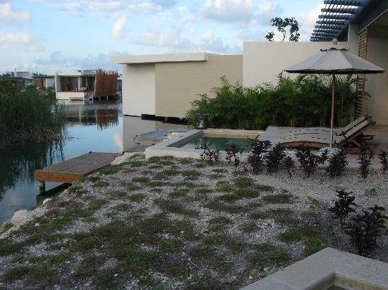 Rosewood Mayakoba: view of our next door neighbor's plunge pool - not totally private