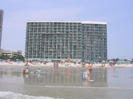 Hotel from beach Picture of Landmark Resort Myrtle