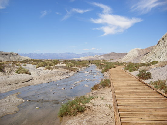 Death Valley Junction, CA: Only natural source of water in Death Valley - supposedly three times saltier that sea water