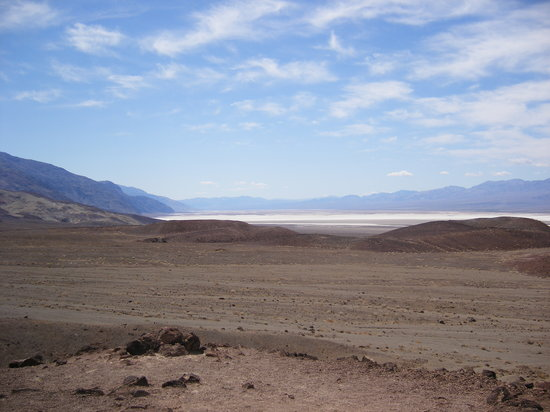 Death Valley Junction, CA: View over lowest point in North America