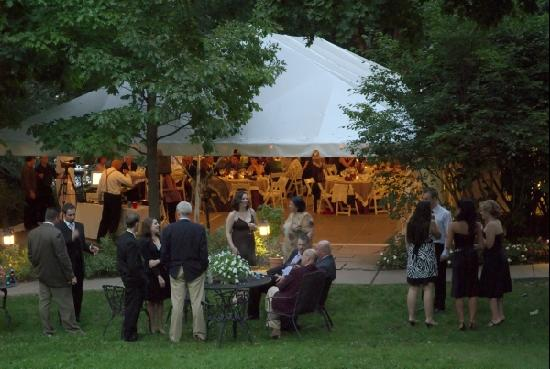 Bethlehem, PA: Our outdoor reception at the Sayre