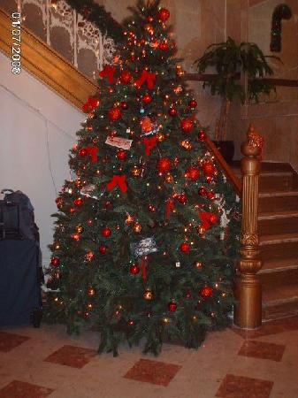 Christmas tree in lobby Picture of Radio City Apartments New York