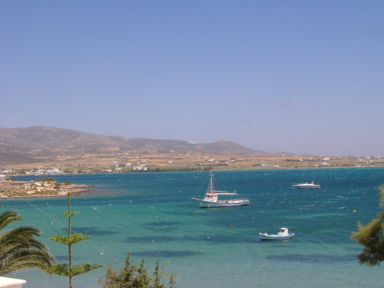 Antíparos, Grecia: View from my room in the morning at the Dimitra Hotel