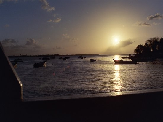 Port of Spain, Trinidad: Sunset at pigeon point tobago