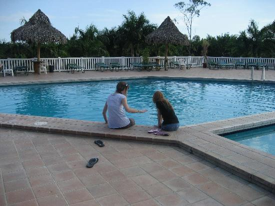 Bahia de los Delfines: My daughters at Bahia's pool