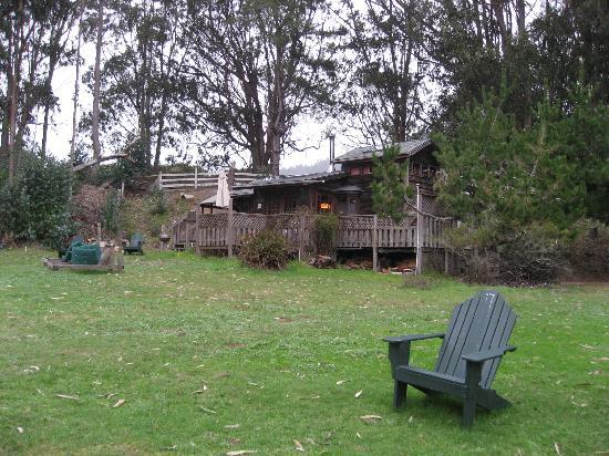 Howard Creek Ranch: Beach House from meadow