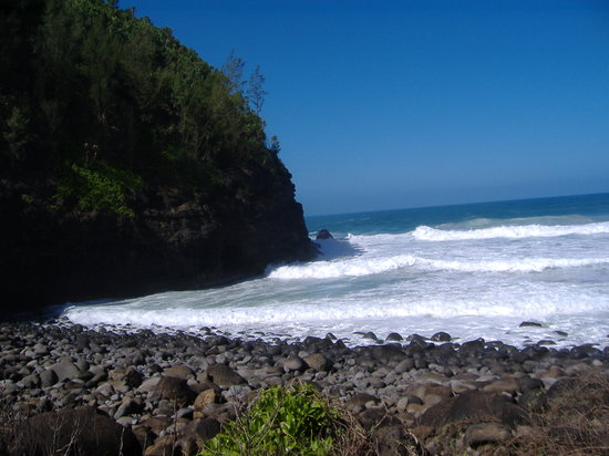 Kapaa, Гавайи: Hanakapi`ai Beach View