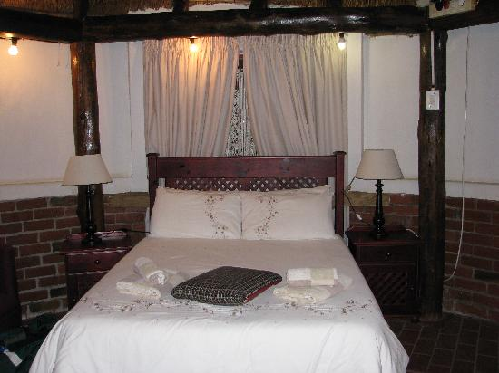 Amper Bo Guest House: This is one of the thatched-roof guest houses that our group stayed in.  Comfy!
