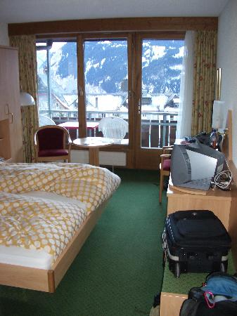 Hotel Jungfraublick Wengen: view double room