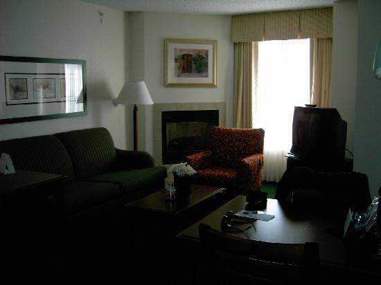 Residence Inn Boston Norwood/Canton : Living Room with fireplace