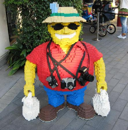 Carlsbad, CA: Legoland tourist, outside the Big Shop