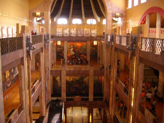 From inside picture of palacio de bellas artes mexico city palacio de bellas artes from inside sciox Choice Image