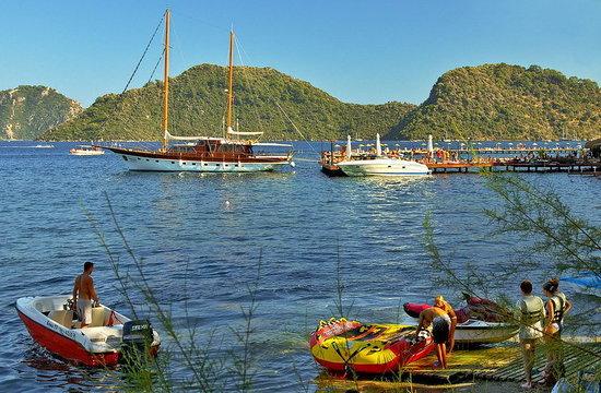 Icmeler, Tyrkiet: icemeler bay