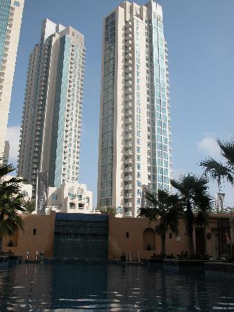 Vida Downtown Dubai: Qamadeen Hotel view from Pool