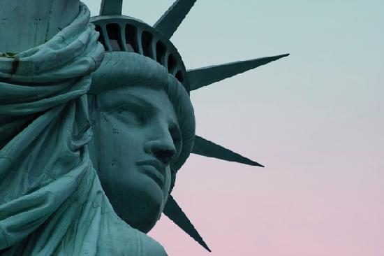 Nueva York, estado de Nueva York: Statue de la Liberté - gros plan