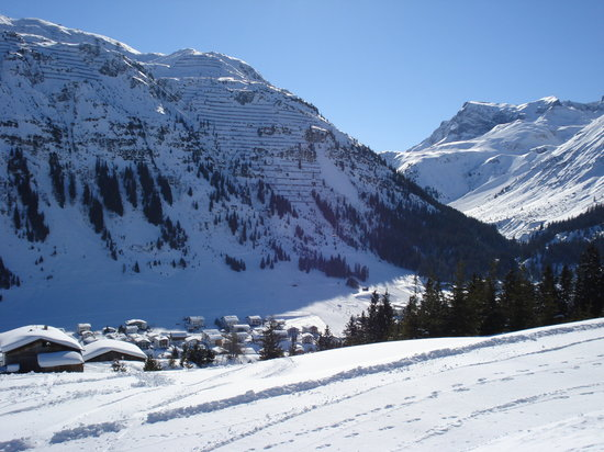 Лех, Австрия: Lech - viewed from Pension sabine