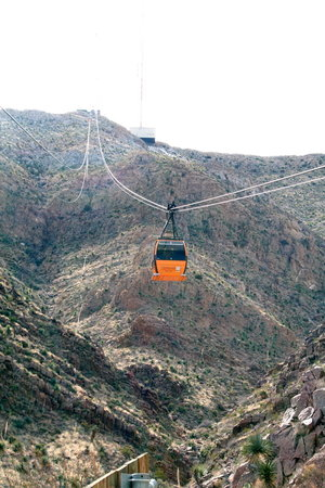 El Paso, TX: View of the cable car 1