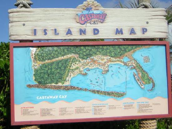 Castaway Cay Island Map