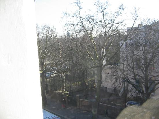 Palace Court Studios: View out of kitchen window