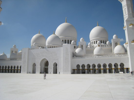 Abu Dhabi, United Arab Emirates: Haupteingang
