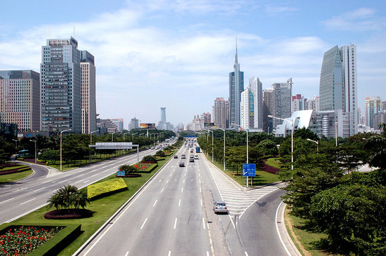 Shenzhen, Chine : Modern Futian