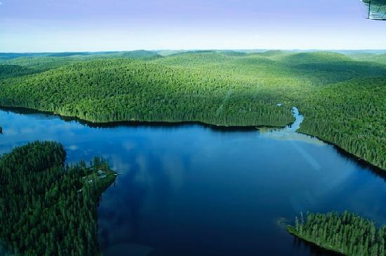 Lac-Édouard, Canada: La Pourvoirie - Nature vue du Ciel
