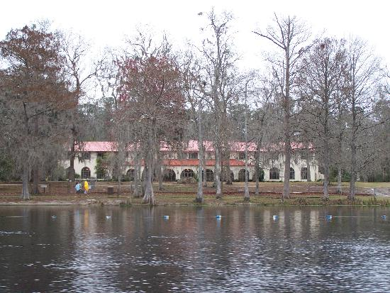 The Lodge at Wakulla Springs: View of lodge from boat tour
