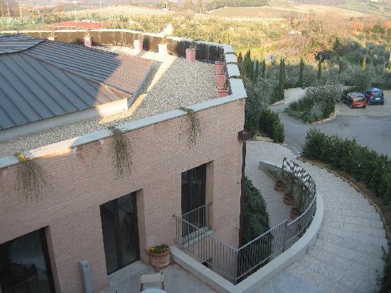 Villasanpaolo: vista dalla nostra camera sul ristorante