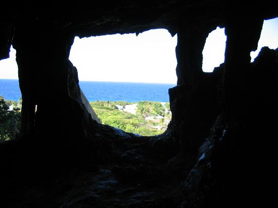 Cayman Breakers Condominiums: Looking Out from Peter's Cave