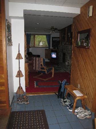 Belles Mountain Chalet: View of living room from entryway