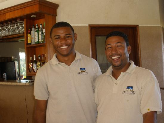 Cabarete East Beachfront Resort: Manuel and Martini's manager Pedro will take good care of you.