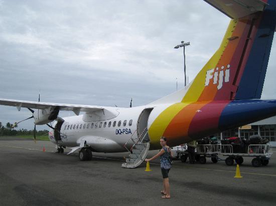 Taveuni, Fiyi: Boarding Pacific Sun in Suva bound for Nadi