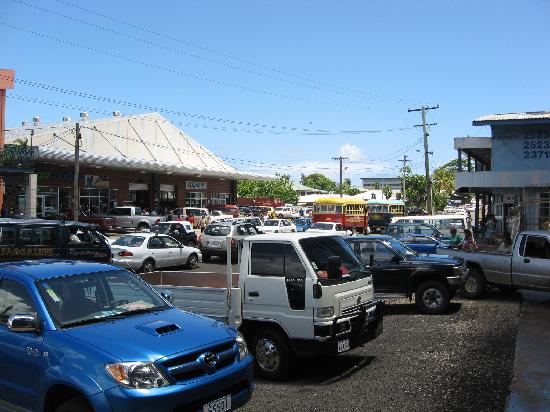 Apia, Samoa: The hustle and bustle of every day life near the market