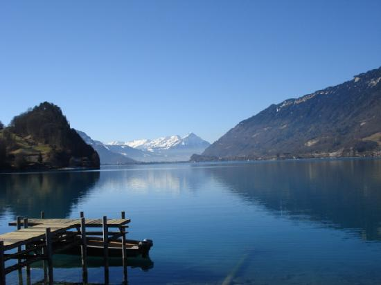 Lake Brienz: View from Iseltwald, 14 Feb. 2008