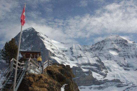 The Eiger from a slopeside restaurant